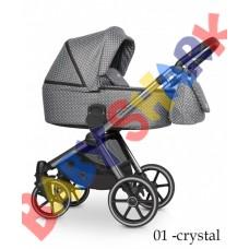 Универсальная коляска 2в1 Riko Qubus 01 crystal