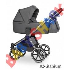 Универсальная коляска 2в1 Riko Qubus 02 titanium