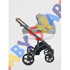 Универсальная коляска 2в1 Roan Bass Soft серый-белый