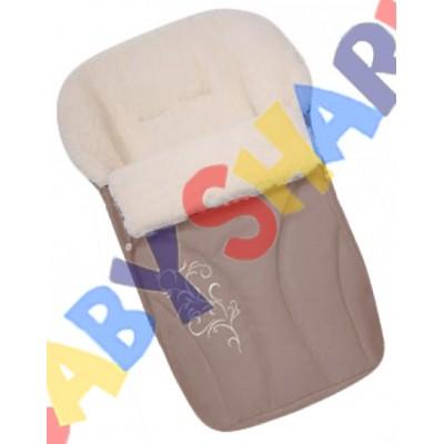 Конверт на овчине Womar №25 с вышивкой Cappuccino