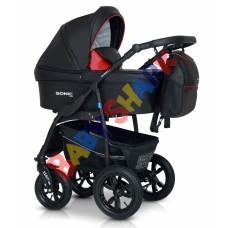 Универсальная коляска 3в1 Verdi Sonic Plus 01 black/red