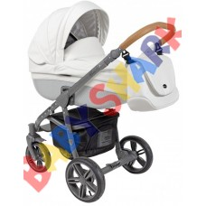 Универсальная коляска 2в1 Roan Bass Eco Carbon White Coconut Grey