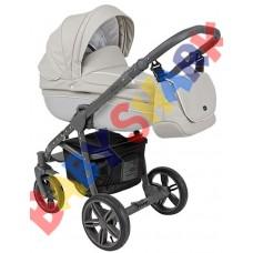 Универсальная коляска 2в1 Roan Bass Eco Carbon White Stone Grey