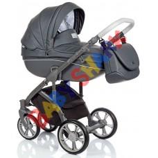 Универсальная коляска 2в1 Roan Bass Soft Eco Dark Grey