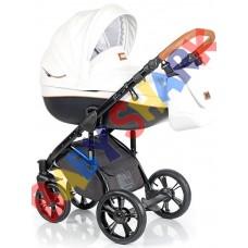 Универсальная коляска 2в1 Roan Bass Soft Eco Caramel White