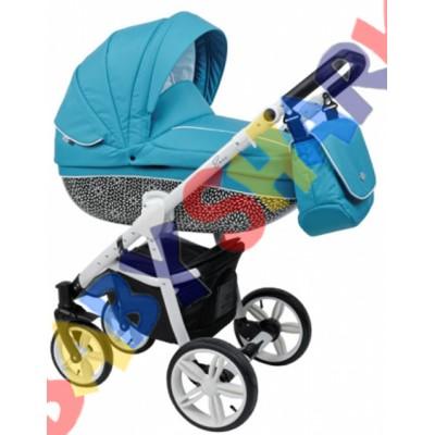 Универсальная коляска 2в1 Roan Bass B6 blue white