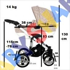 Универсальная коляска 2в1 Adbor Ottis 21