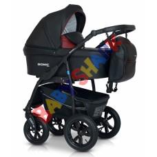 Универсальная коляска 3в1 Verdi Sonic Plus 03 black/bordo