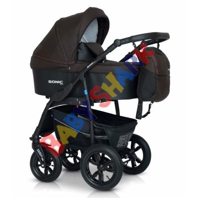 Универсальная коляска 3в1 Verdi Sonic Plus  08 brown/black