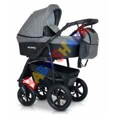 Универсальная коляска 3в1 Verdi Sonic Plus 04 grey/black
