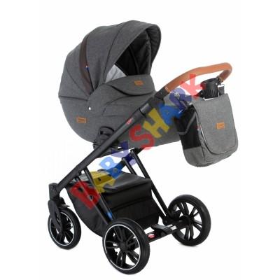 Универсальная коляска 2в1 Broco Up light dark-grey