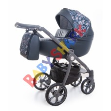 Универсальная коляска 2в1 Roan Esso Blue Sequins
