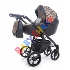 Универсальная коляска 2в1 Roan Esso Gold-Black-Ornaments